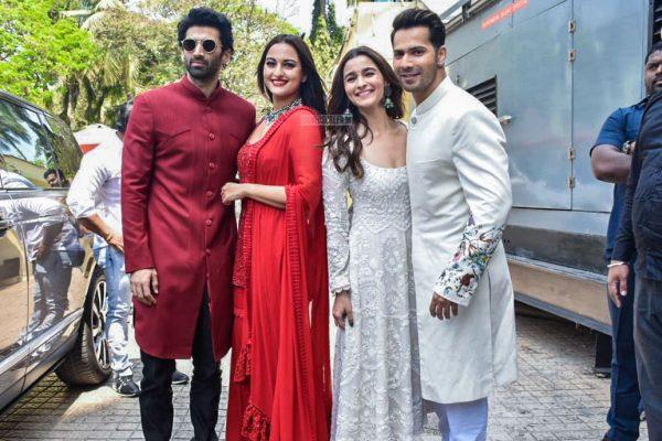 Varun Dhawan, Alia Bhatt, Sonakshi Sinha, Aditya Roy Kapur At The 'Kalank' Teaser Launch
