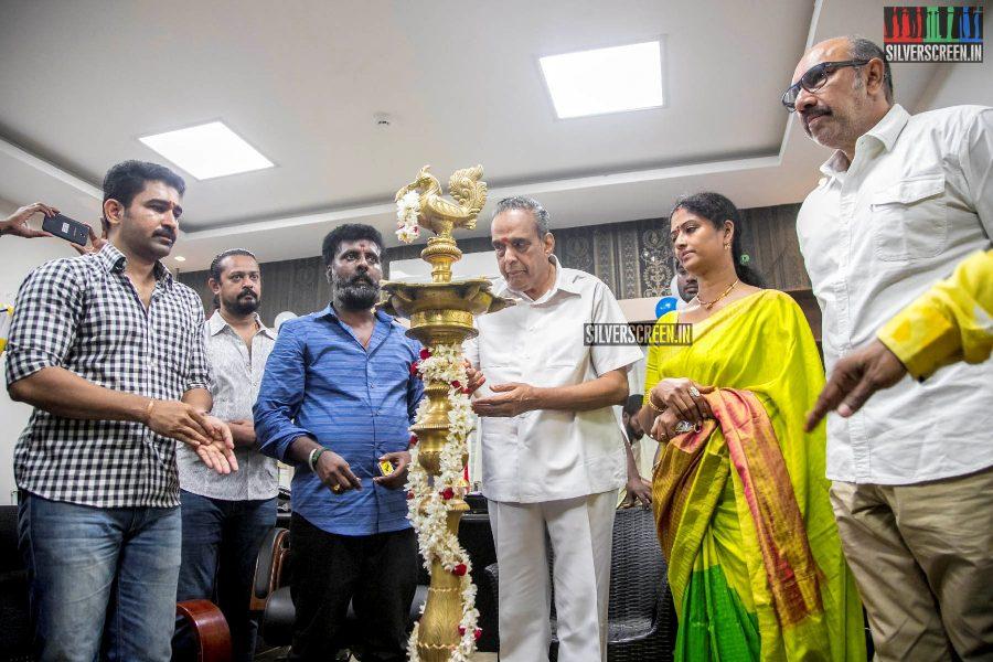 Eswari Rao, Vijay Antony At The 'Kaaki' Movie Launch