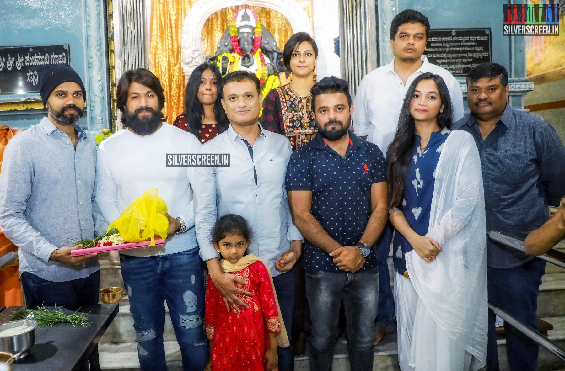 Yash, Srinidhi Shetty At The 'KGF Chapter 2' Movie Launch