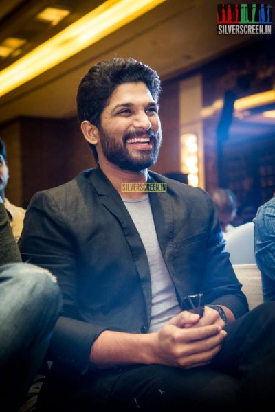 at Allu Arjun-Studio Green Movie Announcement Event