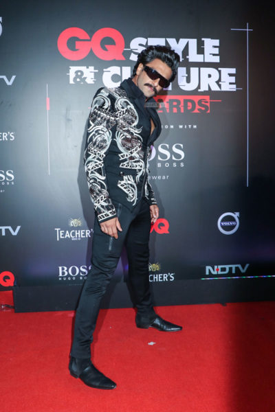 Ranveer Singh At The GQ Style & Culture Awards 2019