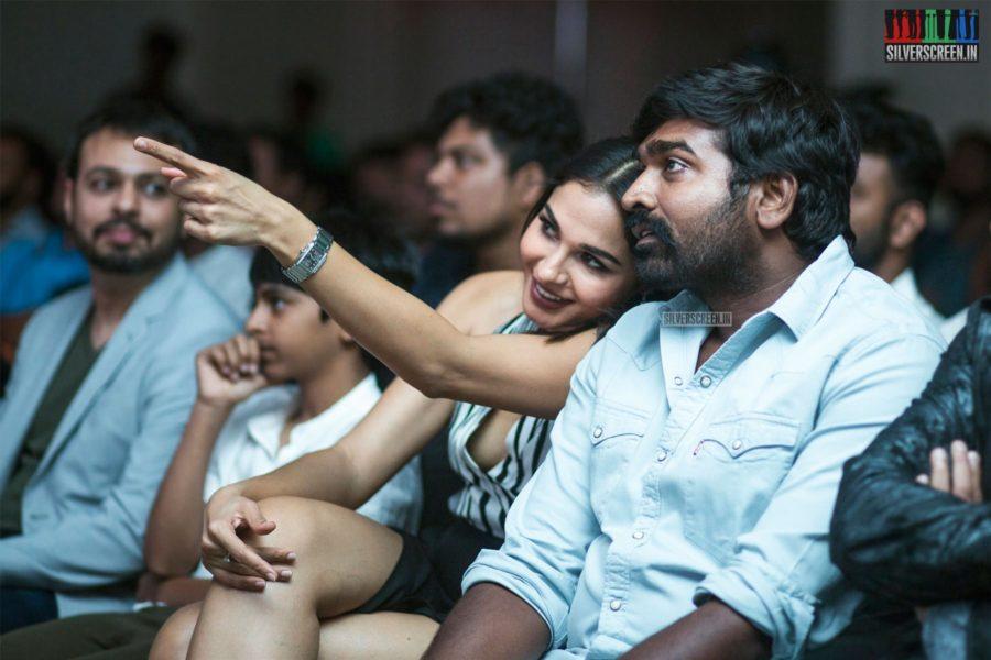 Vijay Sethupathi, Andrea Jeremiah At The 'Marvel Anthem' Launch