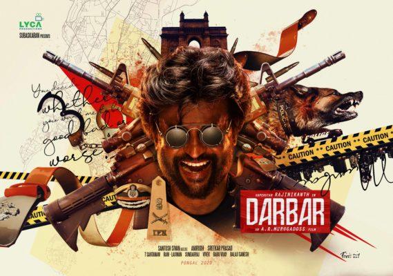 Darbar Movie Poster Featuring Rajinikanth