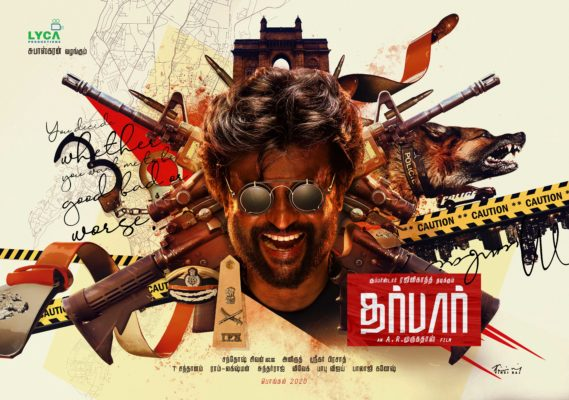 Darbar Movie Poster Featuring Rajinikanth