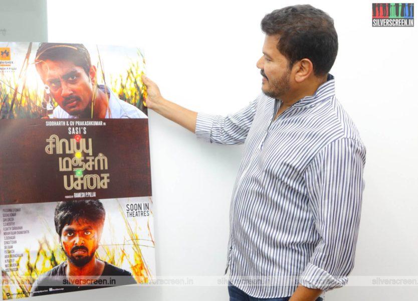 Director Shankar At The First Look Launch  Of 'Sivappu Manjal Pachai'