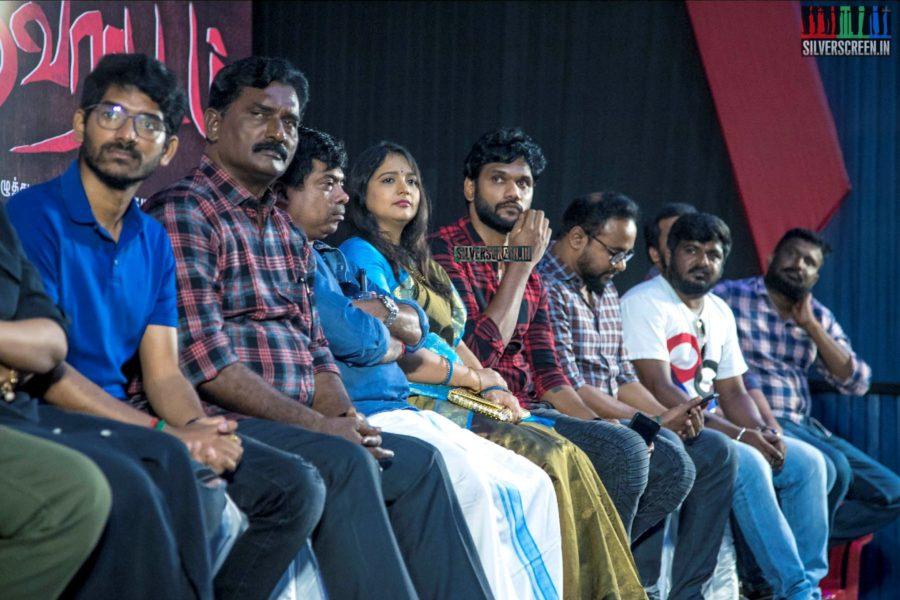 Gautham Karthik, Manjima Mohan At The 'Devarattam' Press Meet