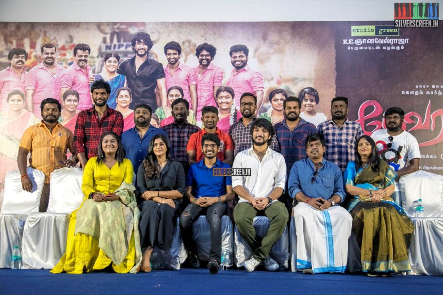 Gautham Karthik, Manjima Mohan At The 'Devarattam' Press Meet