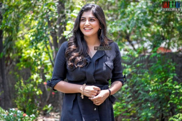 Manjima Mohan At The 'Devarattam' Press Meet