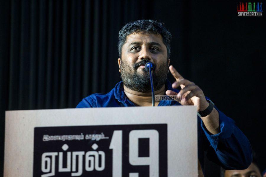 KE Gnanavelraja At The 'Mehandi Circus' Audio Launch