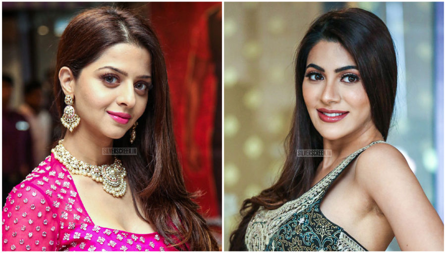 Nikki Tamboli, Vedhika At The 'Kanchana 3' Success Meet