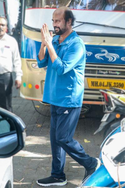 Rajinikanth At The 'Darbar' On Location