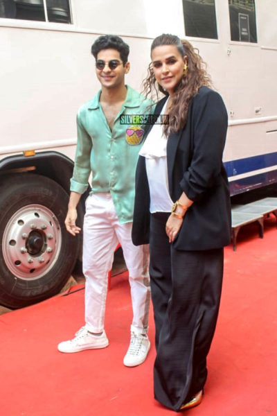 Ishaan Khatter With Neha Dhupia On The Sets Of Vogue BFFs Season 3