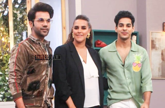 Rajkummar Rao, Ishaan Khatter With Neha Dhupia On The Sets Of Vogue BFFs Season 3