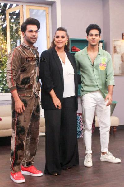Rajkummar Rao, Ishaan Khatter With Neha Dhupia On The Sets Of Vogue BFFs Season 3