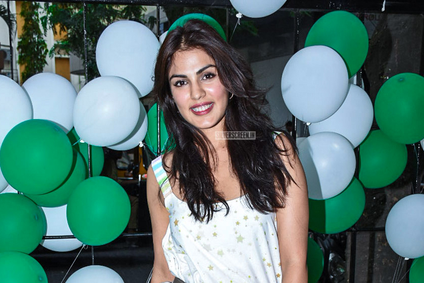 Rhea Chakraborty At A  Launch Of A Coffee Shop