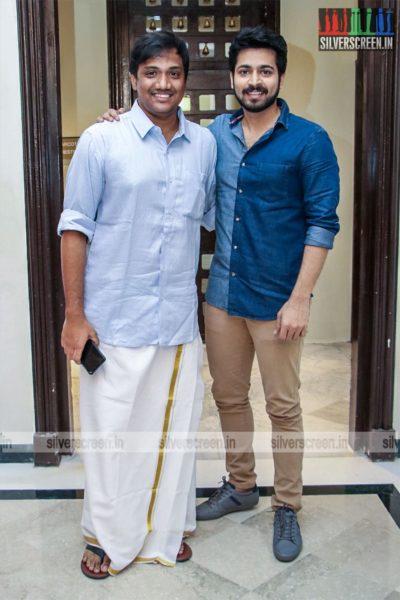 Harish Kalyan, Sanjay Bharathi At The 'Dhanusu Raasi Neyargalae' Movie Launch