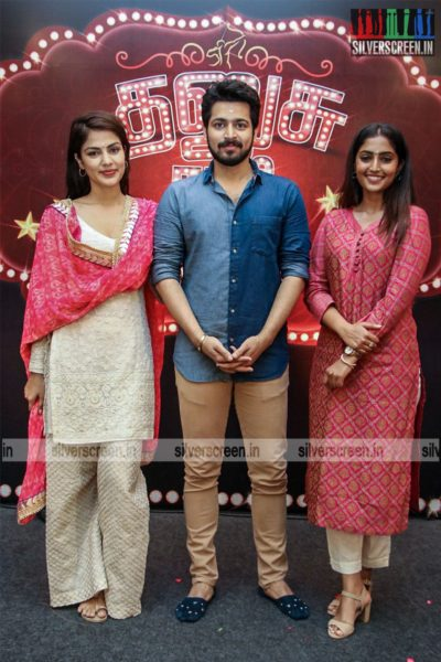 Harish Kalyan, Rjea Chakraborty, Eba Monica John At The 'Dhanusu Raasi Neyargalae' Movie Launch