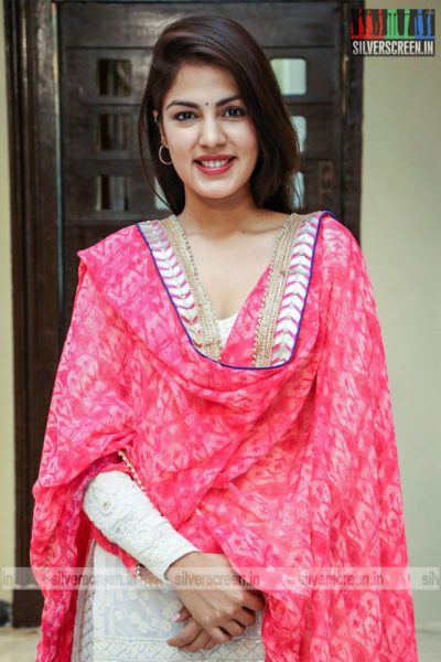 Rhea Chakraborty At The 'Dhanusu Raasi Neyargalae' Movie Launch