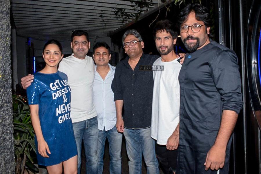 Shahid Kapoor, Kiara Advani At The 'Kabir Singh' Wrap Up