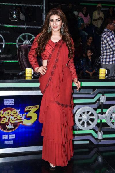 Raveena Tandon On The Sets Of 'Super Dancer 3'