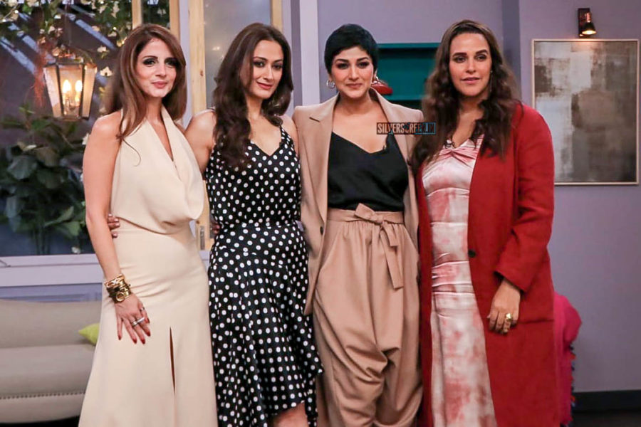 Sonali Bendre, Neha Dhupia, Sussanne Khan On The Sets Of Vogue BFFs Show