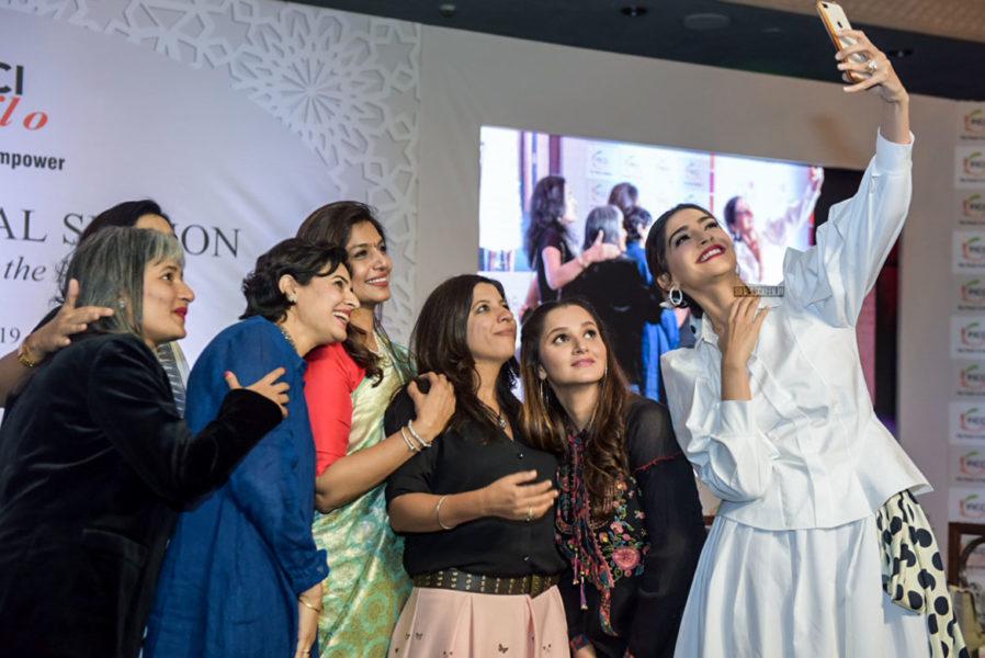 Sonam Kapoor And Sania Mirza At The FICCI FLO Event In Delhi