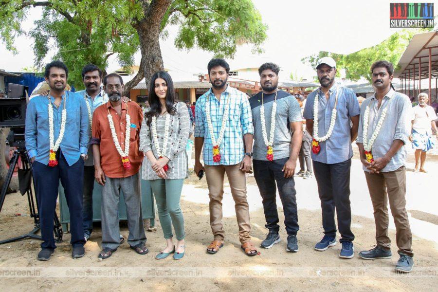 Vijay Sethupathi, Shruti Haasan At The 'Laabam' Movie Launch