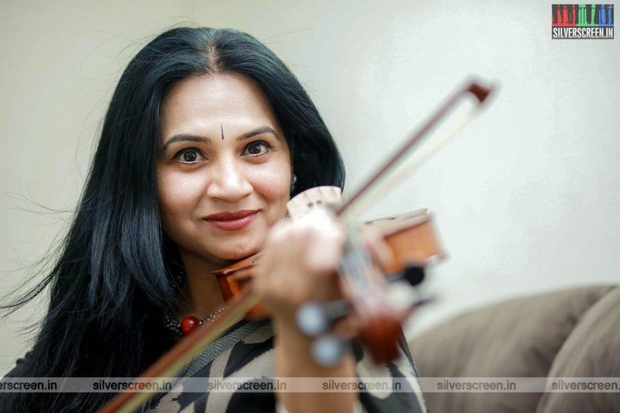 Violin Padma Shankar Photoshoot Stills