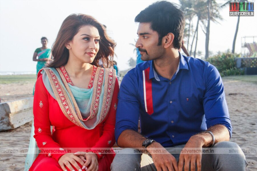 100 Movie Stills Starring Atharvaa, Hansika Motwani