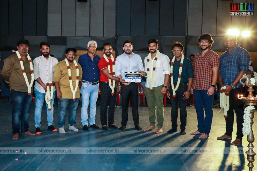 Aravind Swami, Gautham Karthik At Etcetera Entertainment-Production No 12 Movie Launch