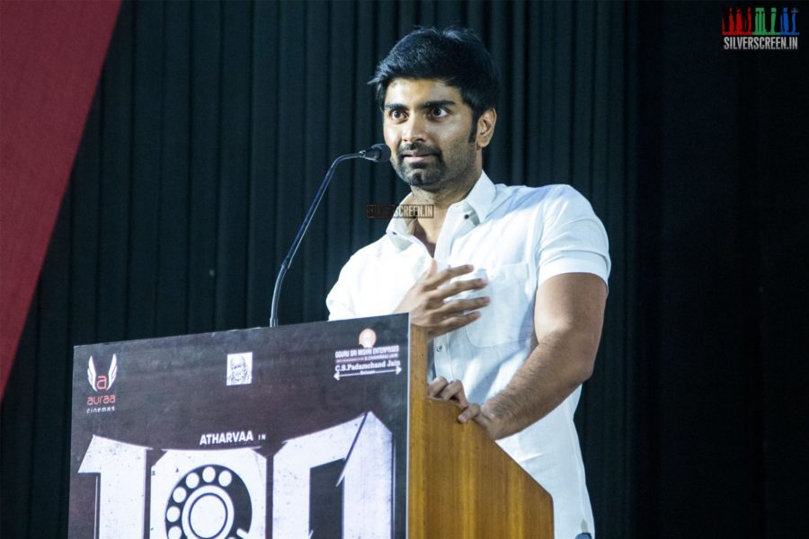 Atharvaa At The '100' Press Meet
