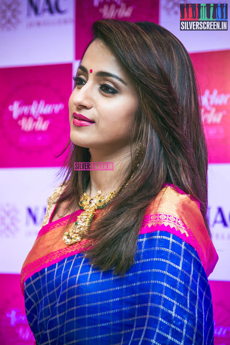 Trisha Krishnan at the Launch of NAC Jewellers Necklace Mela