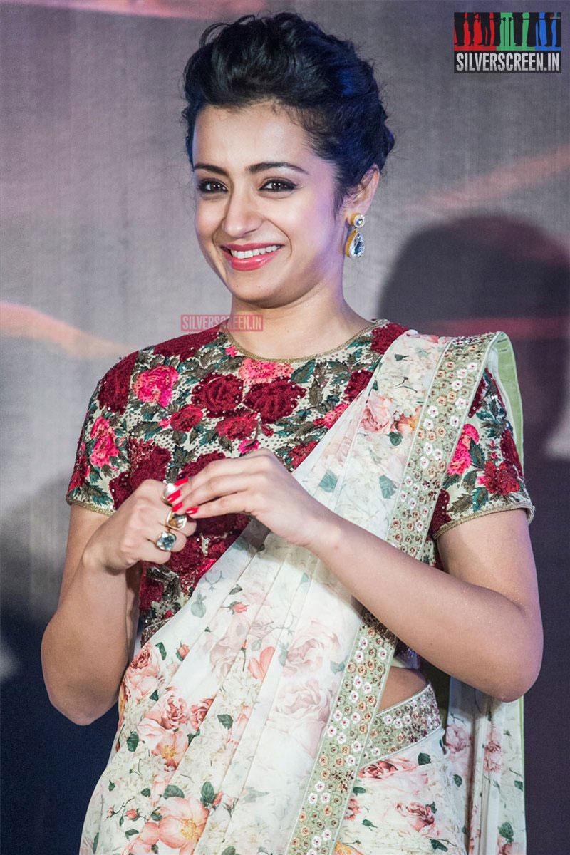 Trisha At The Thoongavanam Trailer Launch
