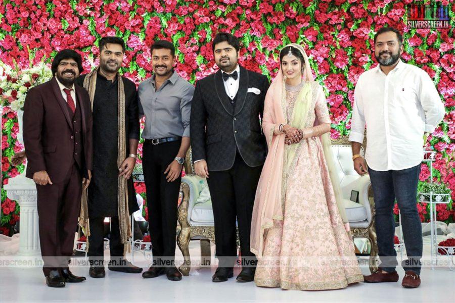 Suriya At TR Kuralarasan-Nabeelah R Ahmed Wedding Reception
