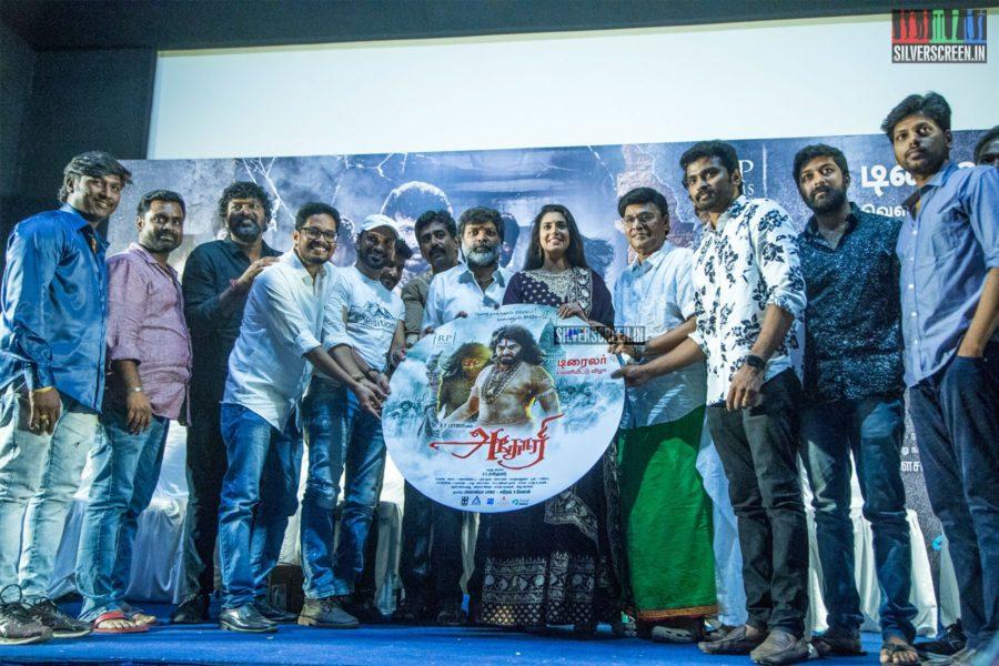 K Bhagyaraj, Kasthuri At The 'Aghori' Trailer Launch