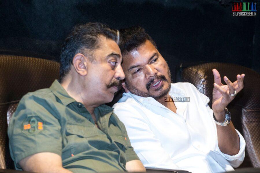 Kamal Haasan, Shankar At The 'Oththa Serupu Size 7' Audio Launch
