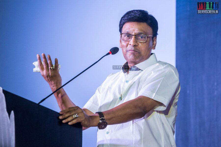 K Bhagyaraj At The 'Oththa Serupu Size 7' Audio Launch