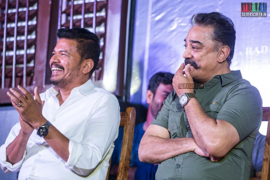 Kamal Haasan, Shankar At The 'Oththa Serupu Size 7' Audio Launch