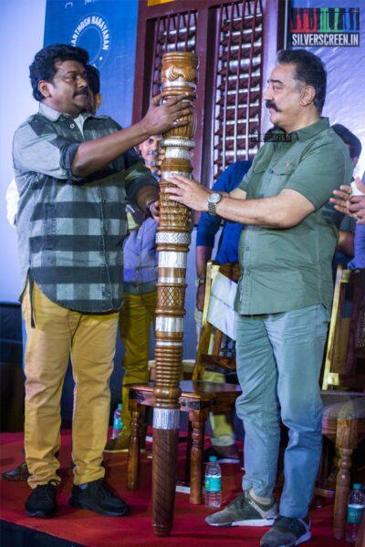 Kamal Haasan, R Parthiban At The 'Oththa Serupu Size 7' Audio Launch