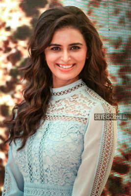Meenkashi Dixit At The 'Maharshi' Pre Release Event