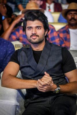 Vijay Devarakonda At The 'Maharshi' Pre Release Event