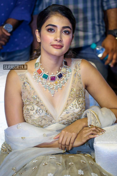 Pooja Hegde At The 'Maharshi' Pre Release Event