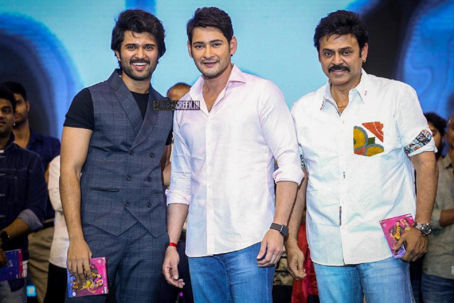 Mahesh Babu, Venkatesh, Vijay Devarakonda At The 'Maharshi' Pre Release Event