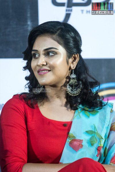 Indhuja Ravichandran At The 'Thiravam' Press Meet