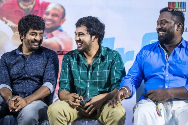 Sivakarthikeyan, Hiphop Tamizha Aadhi, Robo Shankar At The 'Mr.Local' Press Meet