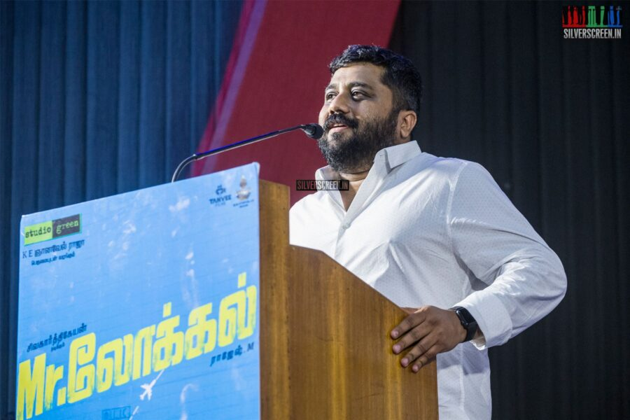 KE Gnanavelraja At The 'Mr.Local' Press Meet