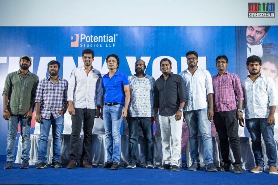 Karunakaran, Nelson, SR Prabhu, SJ Suryah At The 'Monster' Success Meet
