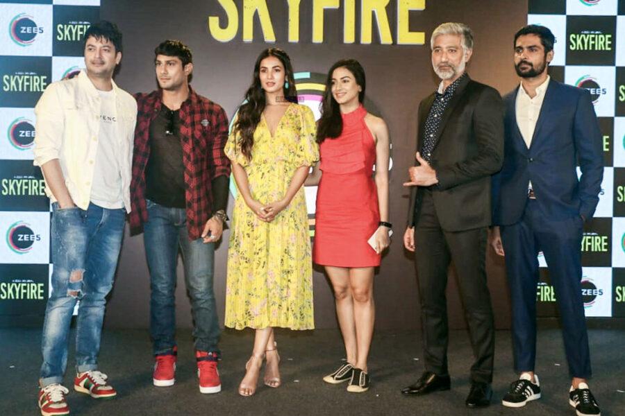 Sonal Chauhan at the Zee5's 'Skyfire' press meet