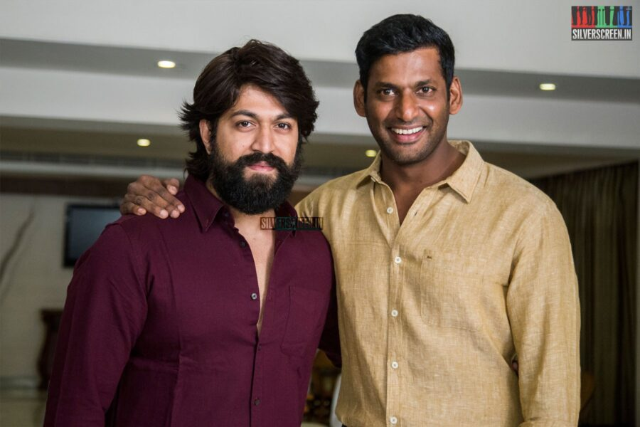 Vishal, Yash At The 'KGF' Press Meet In Chennai