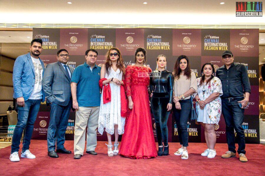 Alisha Abdullah, Vinodhini Krishnamoorthy At The '8th Chennai International Fashion Week' Press Meet